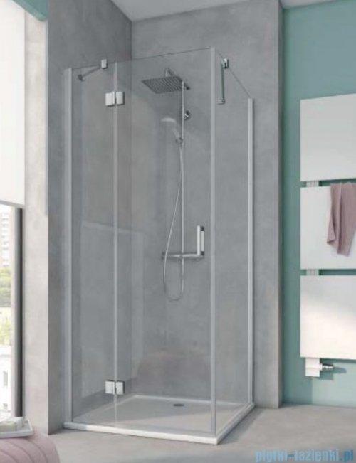 Kermi Osia Kabina prysznicowa 1 skrzydłowa lewa, szkło przezroczyste 90x90 cm OSSTL09020VPK/OSTWD09020VPK