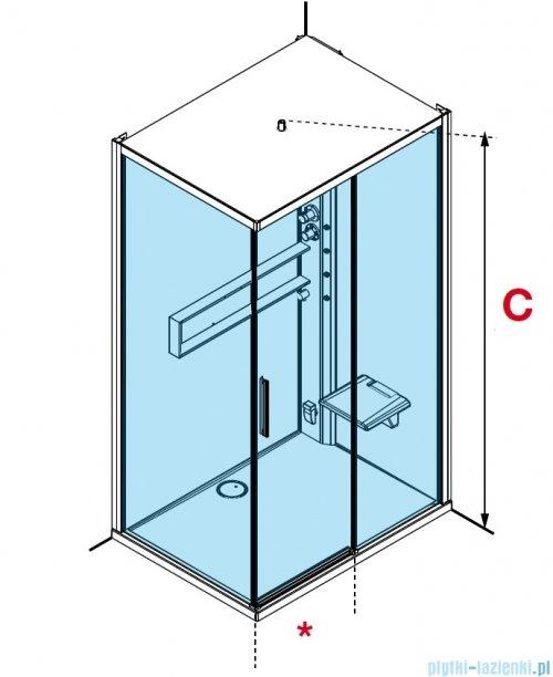 Novellini Glax 2 2.0 kabina z hydromasażem 120x90 prawa total biała G222P299DM1-1UU