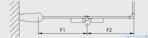 Kermi Diga Wejście narożne,połowa kabiny, prawa, szkło przezroczyste, profile białe 80x200cm DI2CR080202AK