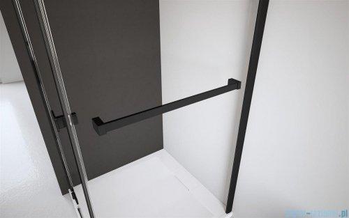 Radaway Furo Black DWD drzwi prysznicowe 150cm szkło przejrzyste 10108413-54-01/10111367-01-01