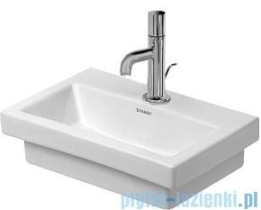 Duravit 2nd floor umywalka mała bez przelewu bez otworu na baterię 400x300 mm 079040 00 70