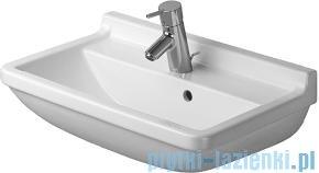 Duravit Starck 3 umywalka compact z przelewem z półką na baterię 600x370 mm 030160 00 00