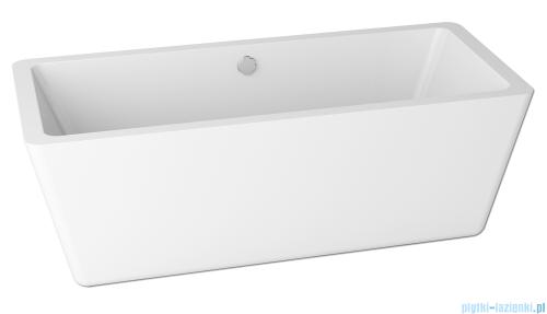 ScandiBath Hel wanna wolnostojąca 175,5x76cm + syfon wizualizacja
