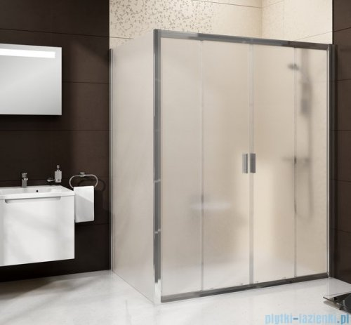 Ravak Blix BLDP4 drzwi prysznicowe 150cm aluminium transparent Anticalc 0YVP0C00Z1