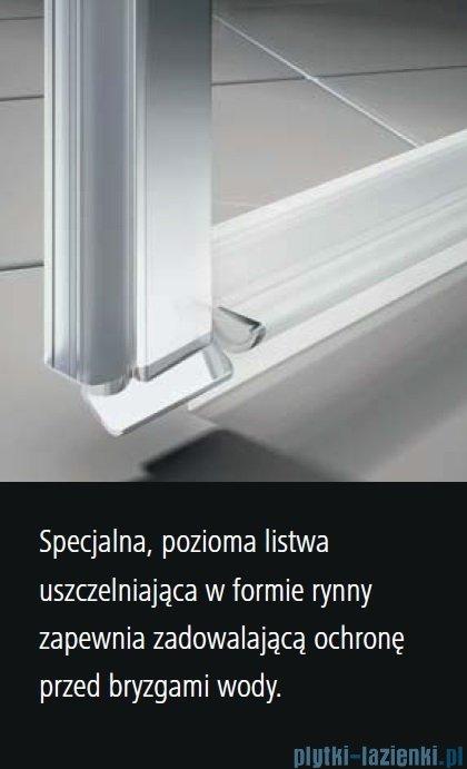Kermi Osia wejście narożne, jedna połowa, prawa, szkło przezroczyste OsiaClean, profil srebro 100cm OSESR10020VPK