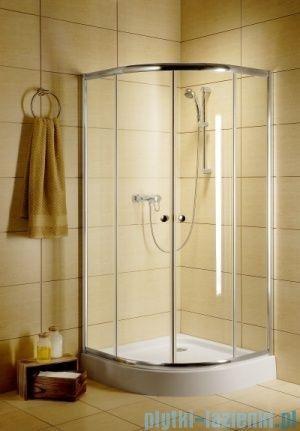 Radaway Classic A Kabina prysznicowa półokrągła z drzwiami przesuwnymi 90x90x185 szkło grafitowe