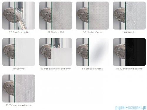 SanSwiss Top-Line Pięciokątna kabina prysznicowa TOP52 z drzwiami otwieranymi 90x90cm Master Carre/srebrny mat TOP5270900130