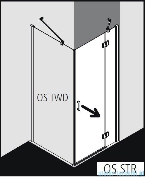 Kermi Osia Kabina prysznicowa 1 skrzydłowa lewa, szkło przezroczyste 120x80 cm OSSTL12020VPK/OSTWD08020VPK