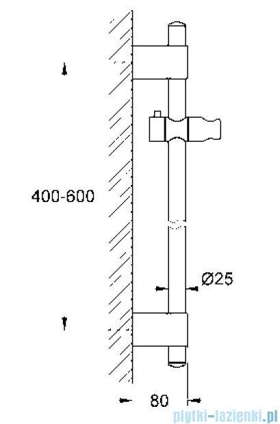 Grohe Power&Soul drążek prysznicowy 600mm 27784000