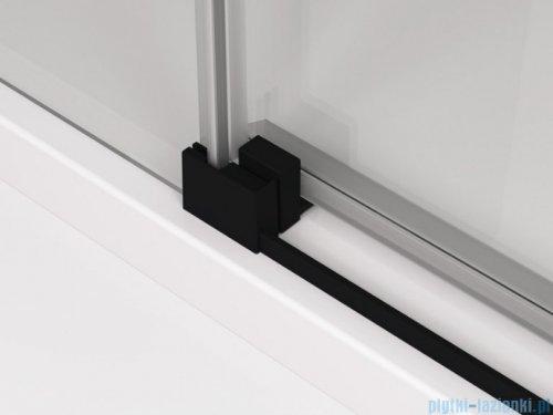 SanSwiss Cadura Black Line kabina Walk in 150cm lewa ze ścianką przesuwną profile czarny mat CAW2G1500607