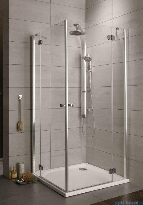 Radaway Torrenta Kdd Kabina prysznicowa 100x80 szkło grafitowe + brodzik Doros D + syfon