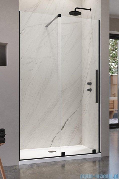 Radaway Furo Black DWJ drzwi prysznicowe 90cm lewe szkło przejrzyste 10107472-54-01L/10110430-01-01