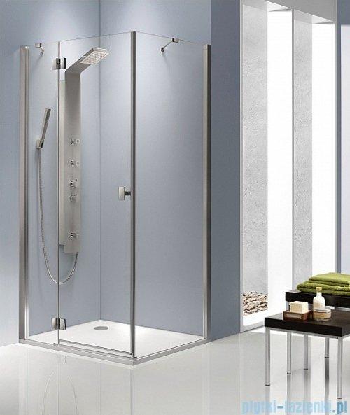 Radaway Kabina prysznicowa Essenza KDJ 120x90 lewa szkło brązowe + brodzik Doros D + syfon montaż na posadzce