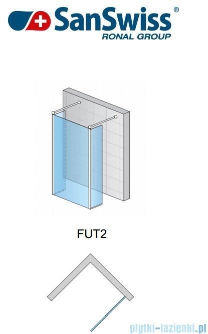 SanSwiss Fun Fut2 kabina Walk-in 90cm profil połysk FUT209005007