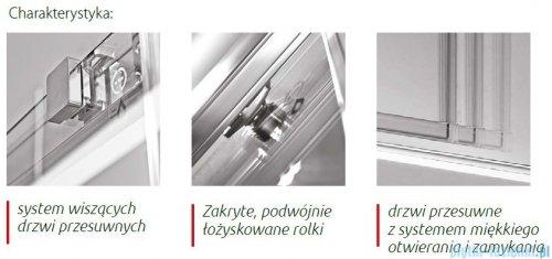 Atrium Trento drzwi wnękowe przesuwne kolor: przejrzyste 120x200 cm HP2120