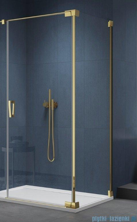 SanSwiss Cadura Gold Line ścianka boczna Cat2 120x200cm profile złote CAT21201207