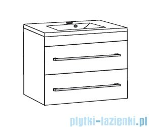 Antado Variete ceramic szafka z umywalką ceramiczną 2 szuflady 82x43x50 biały połysk 671034/667556