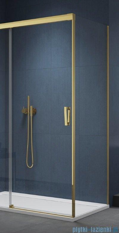 SanSwiss Cadura Gold Line ścianka boczna Cast 110x200cm profile złote CAST1101207