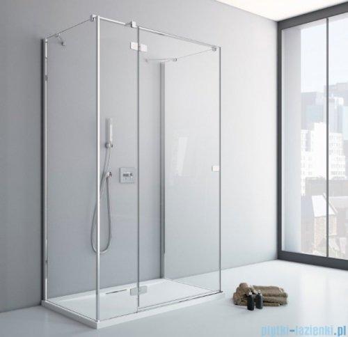 Radaway Fuenta New Kdj+S kabina 80x100x80cm lewa szkło przejrzyste + brodzik Doros D + syfon ShowerGuard