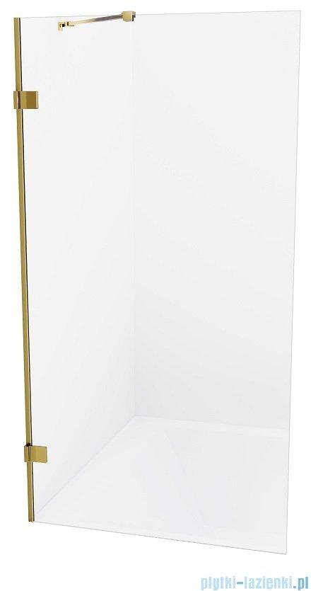 New Trendy Avexa Gold parawan nawannowy z wspornikiem prostopadłym 80x150 cm przejrzyste EXK-2007-WP