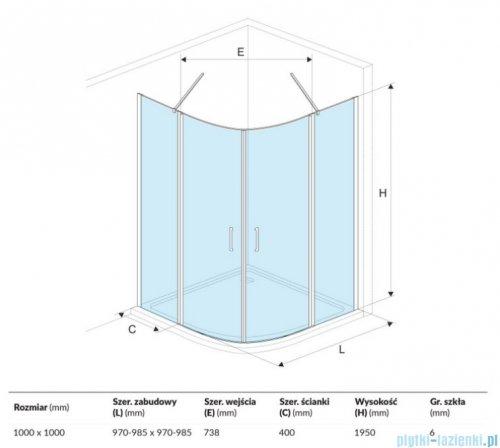 Excellent Mazo kabina półokrągła 100x100 cm przejrzysta