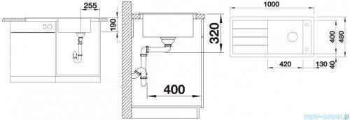 Blanco Mevit XL 6 S Zlewozmywak Silgranit PuraDur kolor: kawowy  bez kor. aut. 518362