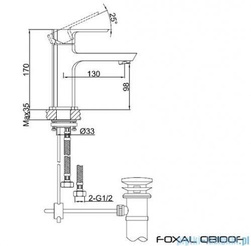 Kohlman Foxal bateria umywalkowa QB100F