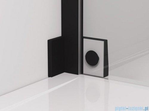 SanSwiss Cadura Black Line drzwi wahadłowe 110cm jednoczęściowe lewe z polem stałym czarny mat CA13G1100607