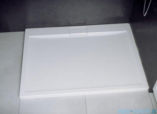 Besco Viva kabina prostokątna lewa z brodzikiem i syfonem 120x90cm przejrzysta VPL-129-195C/BAX-120-90-P