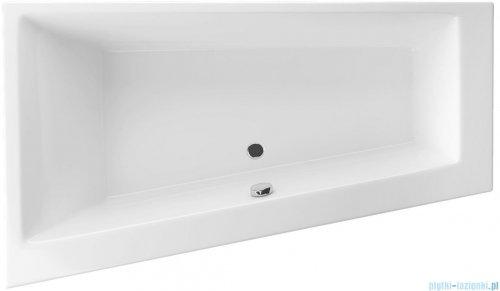 Wanna asymetryczna Excellent Sfera 170x100 lewa biała z nogami WAEX.SFL17WH