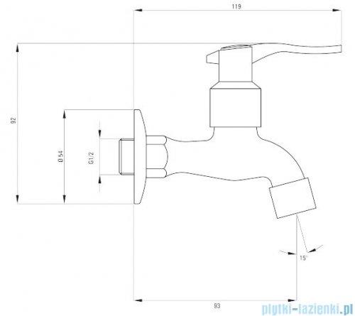 Deante bateria gospodarcza do zimnej wody 1/2'' z aeratorem i adapterem chrom BEZ 122L