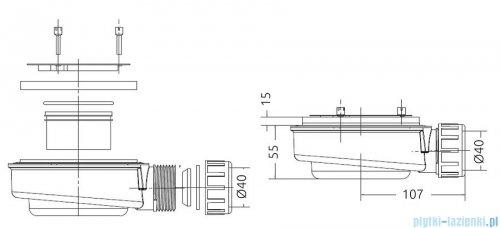 Radaway syfon brodzikowy 90mm HS1