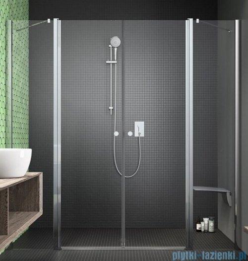 Radaway Eos II Dwd drzwi prysznicowe 140x195 W2 szkło przejrzyste