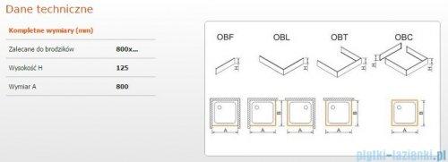 Sanplast Obudowa frontowa do brodzika OBF 80x12,5 cm 625-401-0300-01-000