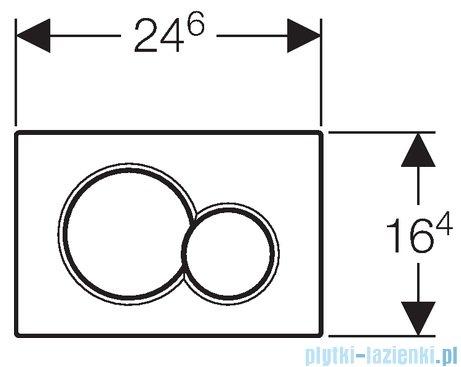 Geberit Sigma01 przycisk spłukujący edelmessing 115.770.DT.5