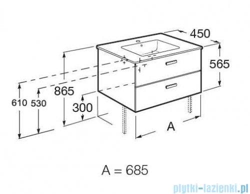 Roca Victoria Basic Unik zestaw szafka z umywalką 80x45x56 brzoza A855852422