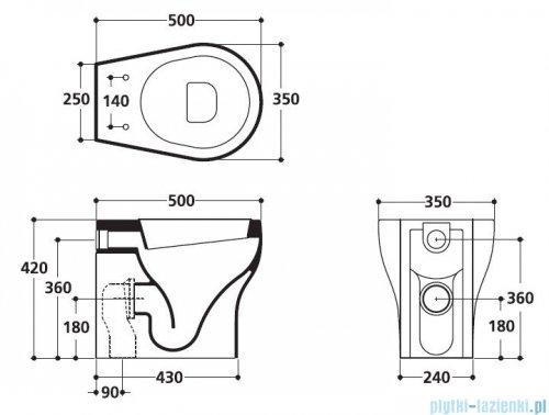 Kerasan K09 miska WC stojąca 50 cm 4516