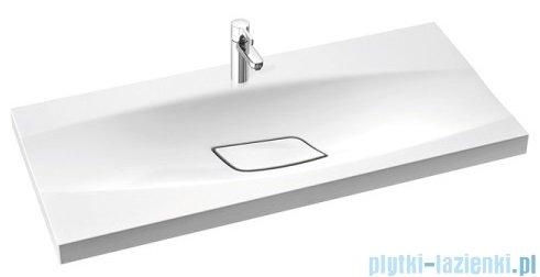Marmorin Noel 1000 umywalka wpuszczana w blat 100x45 bez przelewu i bez otworu na baterie biała 581100020010