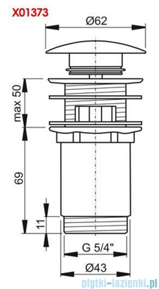 Ravak Korek umywalkowy click-clack chrom X01373