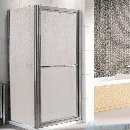 Novellini Drzwi prysznicowe obrotowe do wewnątrz LUNES O 78 cm szkło przejrzyste profil biały LUNESO78-1D