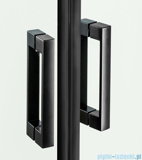 New Trendy New Renoma Black drzwi wnękowe 100x195 cm przejrzyste lewe D-0197A