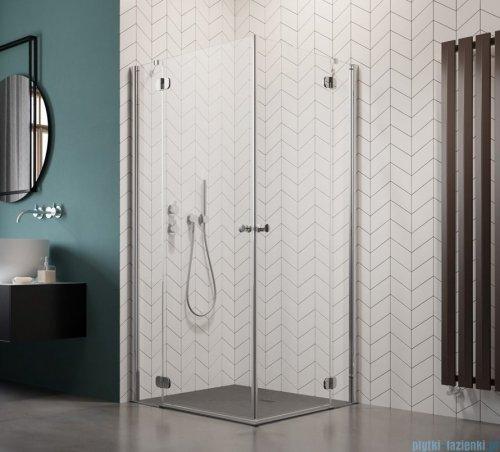 Radaway Torrenta Kdd Kabina prysznicowa 100x80 szkło grafitowe + brodzik Doros D + syfon 32273-01-05NL