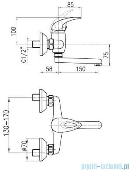 KFA Jaspis bateria umywalkowa ścienna, kolor chrom 540-810-00