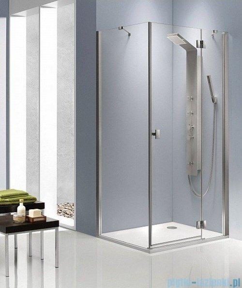 Radaway Kabina prysznicowa Essenza KDJ 80x90 prawa szkło brązowe + brodzik Doros D + syfon montaż na posadzce