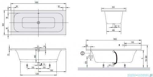 Villeroy&Boch Loop & Friends Wanna prostokątna 180x80   UBA180LFS2V-01