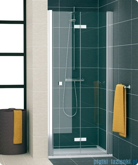 SanSwiss Swing Line F SLF1 Drzwi dwucześciowe 50-100cm profil srebrny Prawe SLF1DSM10107