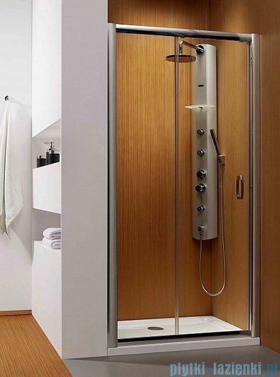 Radaway Premium Plus Dwj drzwi wnękowe 130cm szkło fabric