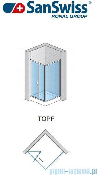 SanSwiss TOPF Ścianka boczna 70cm profil połysk TOPF07005007