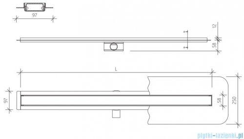 Wiper Premium Slim Sirocco odpływ liniowy 70 cm z kołnierzem WPS700SI