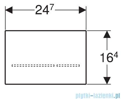 Geberit Sigma80 Elektroniczny zestaw uruchamiający 8 cm WC szkło czarne 116.092.SG.1
